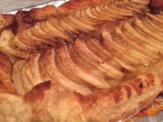 Apple and Pear Puff Pastry Galette with Bourbon Whipped Cream ...